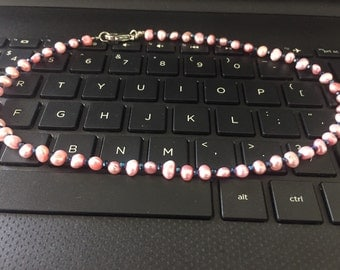 Freshwater pearled necklace