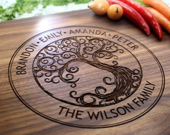 Personalized Cutting Board - Engraved Cutting Board, Custom Cutting Board, Wedding Gift, Housewarming Gift, Anniversary Gift W-025 GB