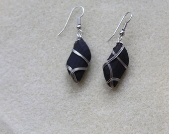 black and silver wrap