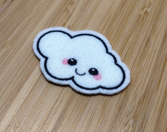 Kawaii Cloud - Embroidered Premium Patch / Iron On