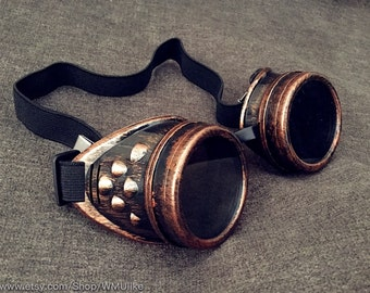 Cyber Steampunk Goggles Victorian Burlesque Cosplay Costume Burning man Festival Halloween dress up Party