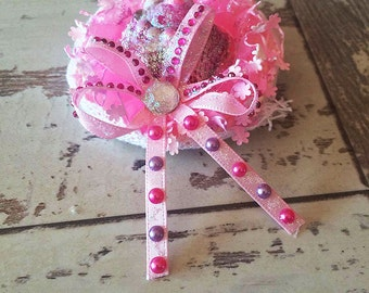 Angelic Hime Pink Mini Hat Hair Clip