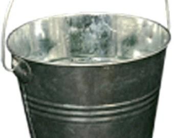 Tin pail, creative hobbies, decoupage, size small 11 x 11 cm