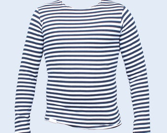 Soviet Sailor striped shirt Telnyashka with blue stripes