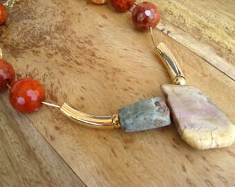 Natural Faceted Aquamarine Necklace