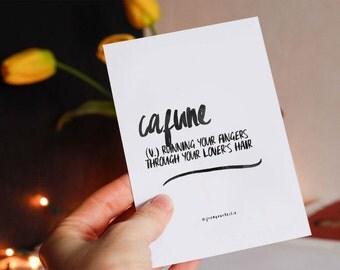 Cafune - definition art, poster print, wall art, printable art, printable quotes, Word print