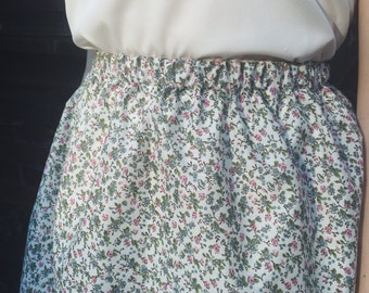 Green Ditsy Floral skirt