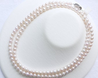 Freshwater pearl 6.5-7mm Pearl Long Necklace White