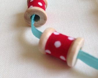 Wooden Spool Zipper Pull
