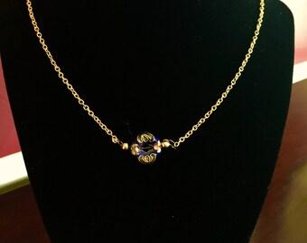 Elegant Cloisonné Bead Necklace