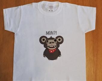 Monty monkey - Kids tshirt