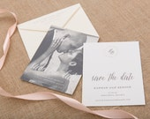 The Queen Anne's Lace Wedding Collection by Paper Daisies, Save the Dates, Rustic, SAMPLE SET