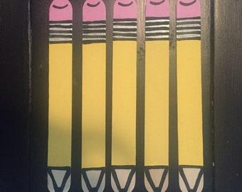 Teacher Gift- pencil pull sticks