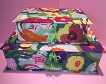 Handmade boxes of size A4 and A5 in a beautiful floral look