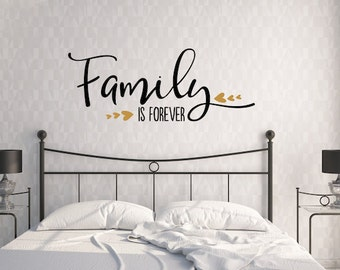 Family Is Forever-Vinyl Wall Decal-Wall Quote-Love-Family Room Quote