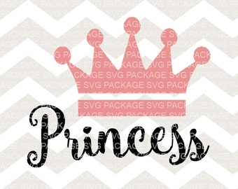 SVG File, Princess, SVG Cutting File, Baby Girl SVG, Nursery Svg Design, Pink crown svg Nursery Clipart, Princess Pink Svg Design, Crown Svg