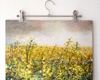 Klemensker / / / oil pastels / / / oil / / / wood / / / mixed media / / / paintings / / / rare / / / landscape / / / yellow / / / storm / / / communication
