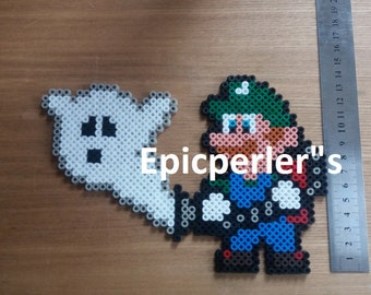 luigi mansion perler bead art,hama bead art,fuse bead art