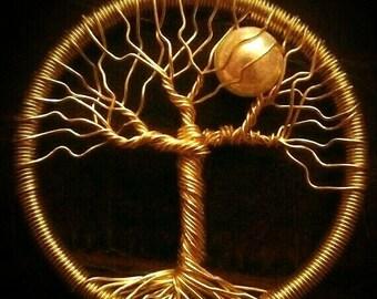 Customizable Tree Moon Pendant