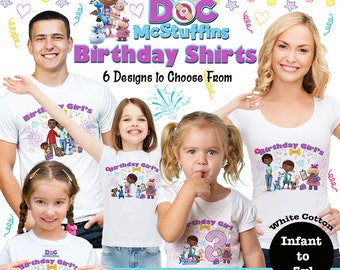 Doc Mcstuffins Birthday Shirts, Disney Family Birthday Tees