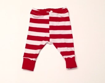 Red and white striped leggings, patriotic baby leggings, patriotic toddler leggings, 4th of july kids leggings