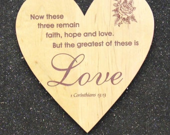 Love heart plaque