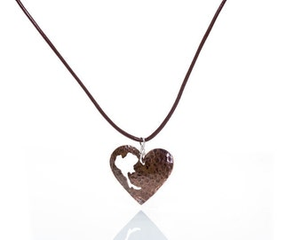 Thailand Heart Copper Pendant necklace