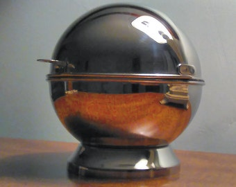 Vintage French Guy Degrenne Covered Globe Bowl Stainless Steel