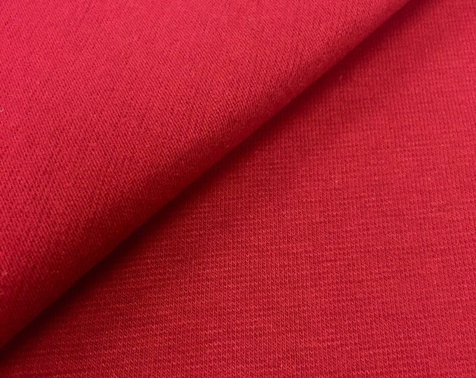 Cotton Jersey Knit Fabric By The Yard (Wholesale Price Available By The Bolt) USA Made Premium Quality - 2128 Bordeaux - 1 Yard