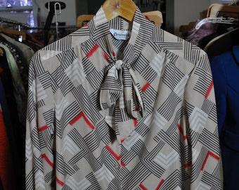 Vintage 1980s Tie-Neck Blouse