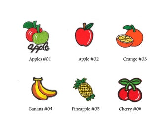 Mix Fruits Food lots Apple Orange Banana Cherry Kids Embroidered Sew Iron On Flowers Patches Patch Appliques Biker Lot For Jackets Jeans