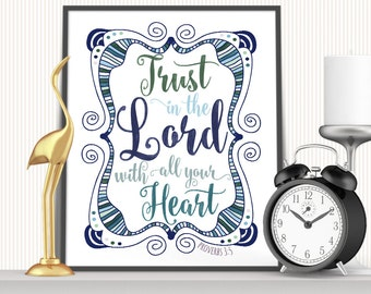 Printable Art, Wall Art, 8x10 Print, Home Decor, Bible Verse Quote, Scripture Quote, Religious Quote, Value Pack
