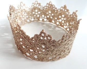 Champagne Gold Baby and Toddler Crown