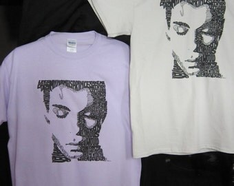 Prince Face in Titles T- Shirt Art (Ice Grey Color)