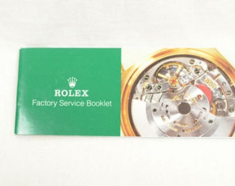 "Rolex Booklet ""Factory Service Booklet"""