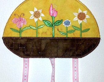 "FSA Seasonal Mobile Spring Project   ( 5 ""Free Standing Applique"" Machine Embroidery Designs to make project from ATW )"