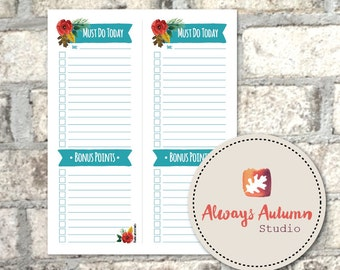Printable To Do List {Four Seasons Collection} Instant Download