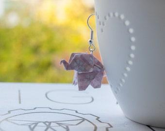 Origami Elephant Earrings Jewellery