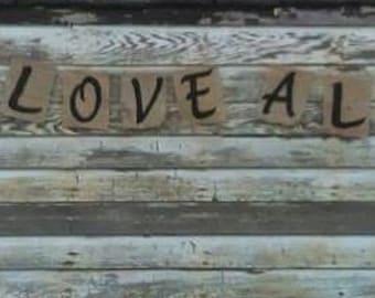 Burlap Banner True Love Always