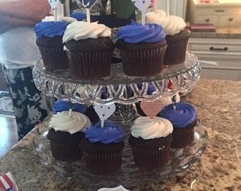 Nautical Theme Cupcake Toppers