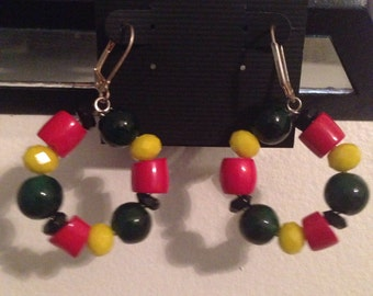 Rasta Love Hoop Earrings