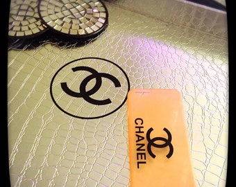 Chanel inspired peach iphone 6 case