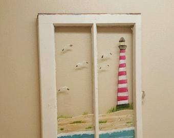 Lighthouse Window Painting