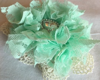 Ribbon and lace Hair Clip