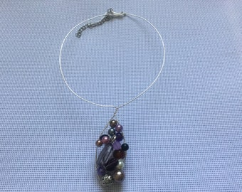 Purple Wire Necklace