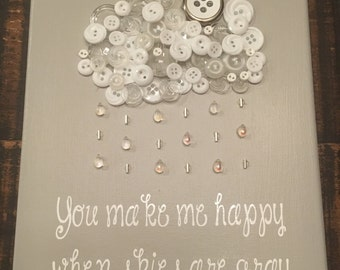You Make Me Happy When Skies Are Gray, Button Art