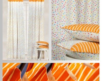 Funfetti Colorful Dot Curtains and Pillow Covers