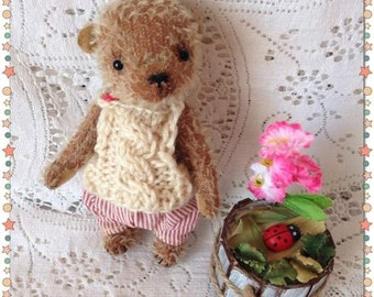 Small teddy Pocket teddy Teddy bear Teddy gift Teddy handmade Teddy Stuffed bear Plush bear Miniature bear