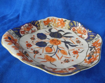 Vintage  Chinese Porcelain Dish Birds & Flowers