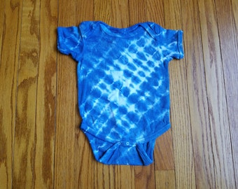 24 Month Natural Indigo Dyed Onesie